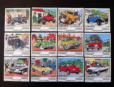 Neuf *herge*tintin 60 Ans Citroen *serie Complete 12 Autocollants 1984 Cote D'or