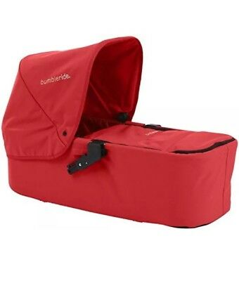BumbleRide Indie Twin Carrycot Cayenne Red •