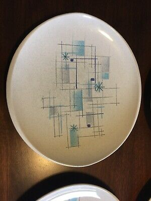 Franciscan Modern Oasis Dinner Plate Lot Of 4 Atomic Starburst