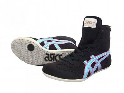 wholesale dealer 34b31 7a29b Asics Catch Boxe Chaussures Ex-Eo Twr900 Noir X Bleu Glacier Japon