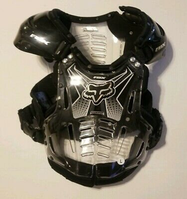 FOX Airframe Chest Protector. Black And Clear. Large.