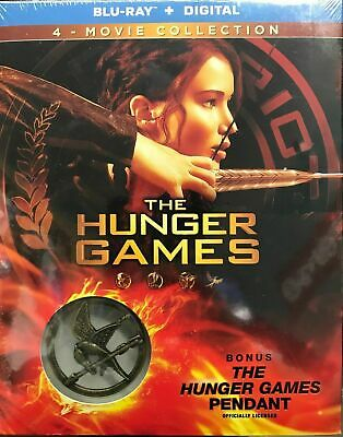 The Hunger Games 4-Movie Box Set Blu-ray + Digital + Pendant Set Slipcover