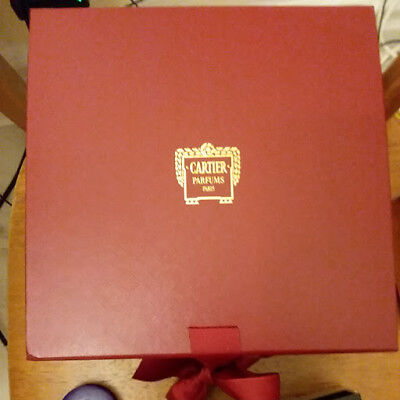 Genuine Red Cartier Jewelry/ parfume  Gift  Square Box