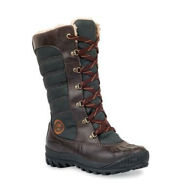 WOMEN'S TIMBERLAND MOUNT Holly Tall Lace Duck Boot Size