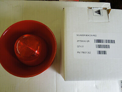 Ziton / Clymac ZP755HAV-2R ZP3 Open Area Sounder Beacon in RED UNUSED + BOXED