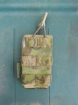 Warrior Assault Systems Single M4 5.56 Open Mag MOLLE Pouch A-TACS FG (No.2)