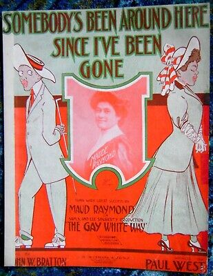 "Rare Black Americana Sheet Music 1907 ""SOMEBODY'S BEEN AROUND HERE..."""