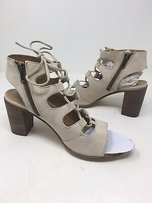 6c14ccb3856 Steve Madden Women s Nilunda Lace Up Sandals Sand Suede SIZE 8  NEW SHIPS  FREE