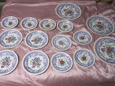 COPELAND SPODE ENGLISH BONE CHINA MAYFLOWER Plates Bowls