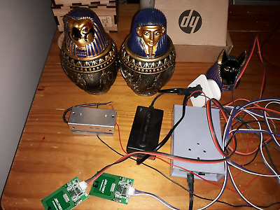 Escape room electronic Egyptian gods canopic jars and magnetic lock