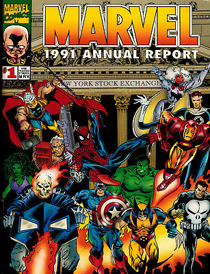 MARVEL ANNUAL REPORT 1991 + 1992 1st, 2nd, & 3rd Quarterly Reports High Grade