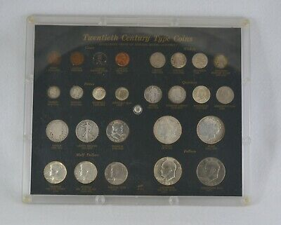 Twentieth Century Type Coins Set In Capital Frame CS 42 A Silver + Clad 26 Total