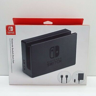Nintendo Switch Dock Set Complete w/ AC power cord & HDMI Cable (T112)