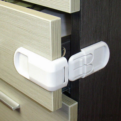 10 pcs Child Infant Baby Kids Toddler Protection Cabinet Door Table Child Locks