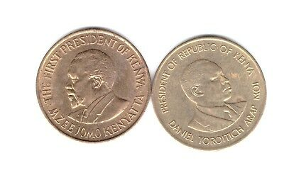 Kenya 2 coins different 5 cents very nice grade 1971 1987