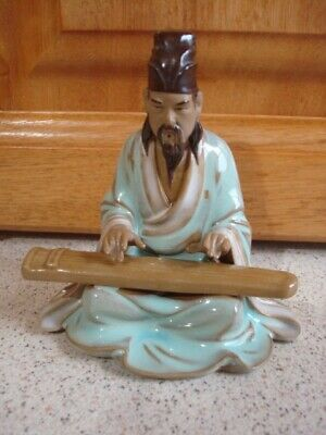 Vintage Antique Chinese Mudman China Majolica.... Bonsai