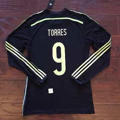 first rate ad9e5 efa02 2014 Spain Away Jersey  9 TORRES Adidas Adizero Player Issue 8 Long Sleeve  New