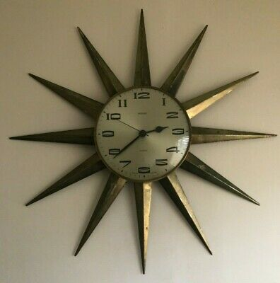 Vintage Metamec Sunburst Wall Clock