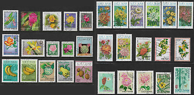 VIETNAM mixed collection No.35, incl Flowers, Fruit