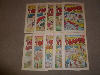 10 x THE TOPPER COMIC JAN - OCT 1988