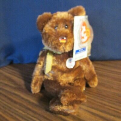 TY Beanie Baby Champion the 2002 Fifa World Cup Bear Germany 8b0d775ad911