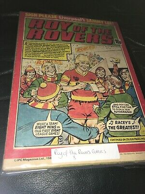 8x vintage Roy of the Rovers Comics 1981 Well Looked After Low PP