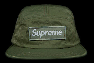 9ee428ec8f7 Supreme Washed Canvas Nylon Camp Cap Olive Fw17 Hat Green Black Box Logo Cdg