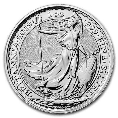 2019 Great Britain Silver Britannia £2 - 1 oz pure silver .999 - BU
