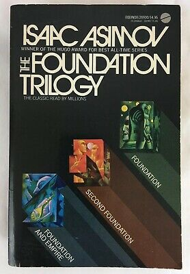 The Foundation Trilogy by Isaac Asimov (1976 Paperback; 3rd Equinox Printing)