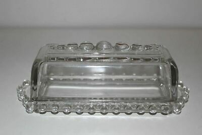Vintage Imperial Candlewick Glass Covered Butter Dish
