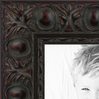 "ArtToFrames Custom Picture Poster Frame Brown Burgundy Compo  .625"" Wide Wood"
