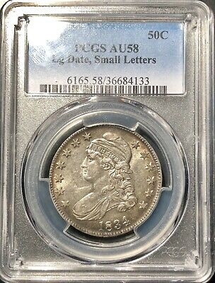 1834 Capped Bust Half Dollar PCGS AU58 Lg Date Small Letters*Very original!!!
