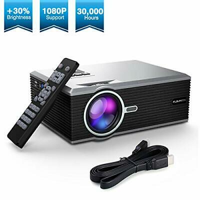Proyector, FLOUREON 1080P Mini Proyector, Portable Home Cinema HD LED Vídeo Pr