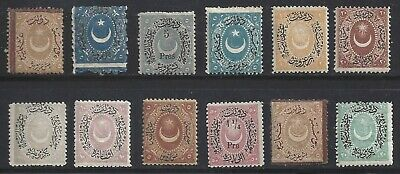 Turkey ca. 1870/1900 12 values all MNH **  +++++++++++++++++++