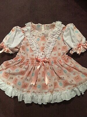 Adult Baby Sissy Dress Up PRECIOUS in PINK Bonnet FREE SHIPPING Binkies/_n/_Bows