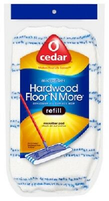 O'Cedar Hardwood Floor & More Microfiber Mop Refill Bonnet, Case of 10