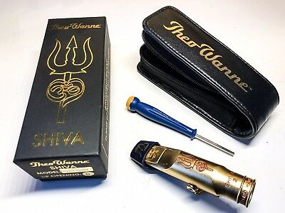 THEO WANNE SHIVA 2 Gold-Plated Tenor Saxophone Mouthpiece Size 8  110