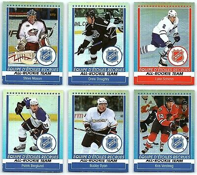 2009-10 O-PEE-CHEE ALL-ROOKIE TEAM Complete 6 Hockey Cards Insert Set Lot Rare