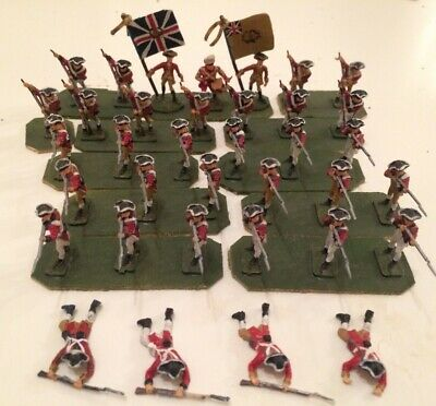 36ea 1:72 scale painted plastic 18th Cent./American Revolution British Infantry