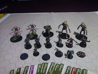 D&D Savage Encounters Miniatures Lot With Stat Cards!! Dungeons & Dragons WOTC