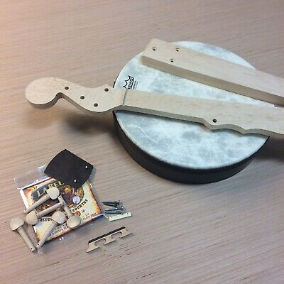 DIY Minstrel Banjo Kit Handmade in USA Solid Birdseye Maple And Remo Drumhead