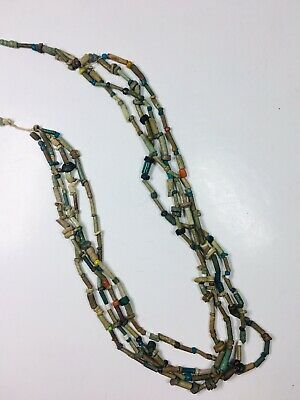 Amazing Ancient Egyptian Faience Beads Necklace Late Period 300 - 30 B.C