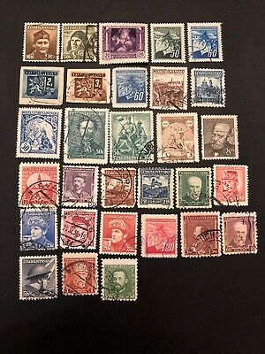Old Czechoslovakia Europe Stamps- Lot A-63530