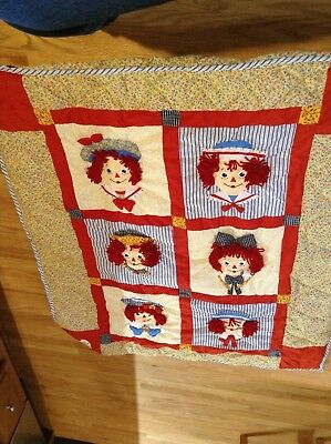 Raggedy Ann and Andy 3D Quilt/Crib Blanket by Applause