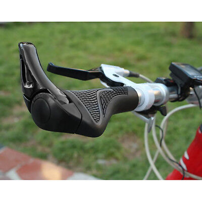 1pair Rubber Cycling Lock-on Handlebar Ends Grips For MTB Mountain Bike Bicycle