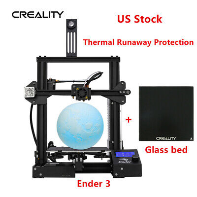 Newest Creality Ender 3 3D Printer 220X220X250mm + Glass Bed
