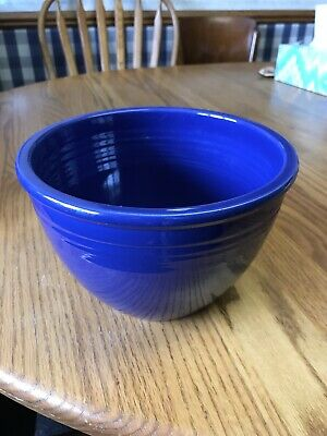 "Vintage Fiesta Cobalt # 4 Mixing Bowl 7 3/4"" Wide & 5"" High"
