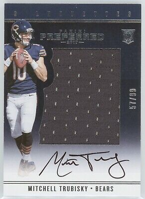 Mitchell Trubisky 2017 Panini Preferred Rookie Silhouette Patch Auto #57/99 Jbs