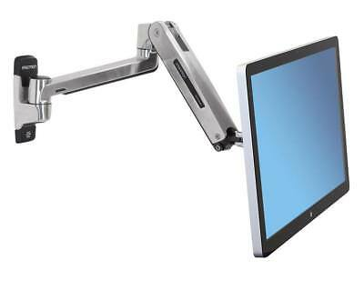 Ergotron Lx Hd 45-383-026 Sit Stand Aluminum Heav Duty Monitor Tv Arm Wall Mount