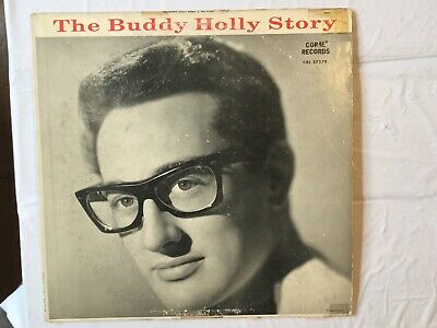"""1959 Rock LP - BUDDY HOLLY & THE CRICKETS """"The Buddy Holly Story"""" CORAL RECORDS*"""